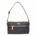 Prada Tessuto + Saffian Bleu Navy Shoulder Bag BN1834