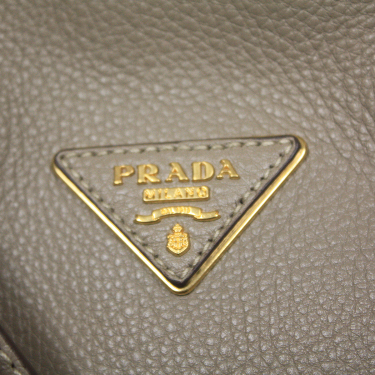 Prada Textured Dove Grey Taupe Beige Leather Shopping Tote Bag ...
