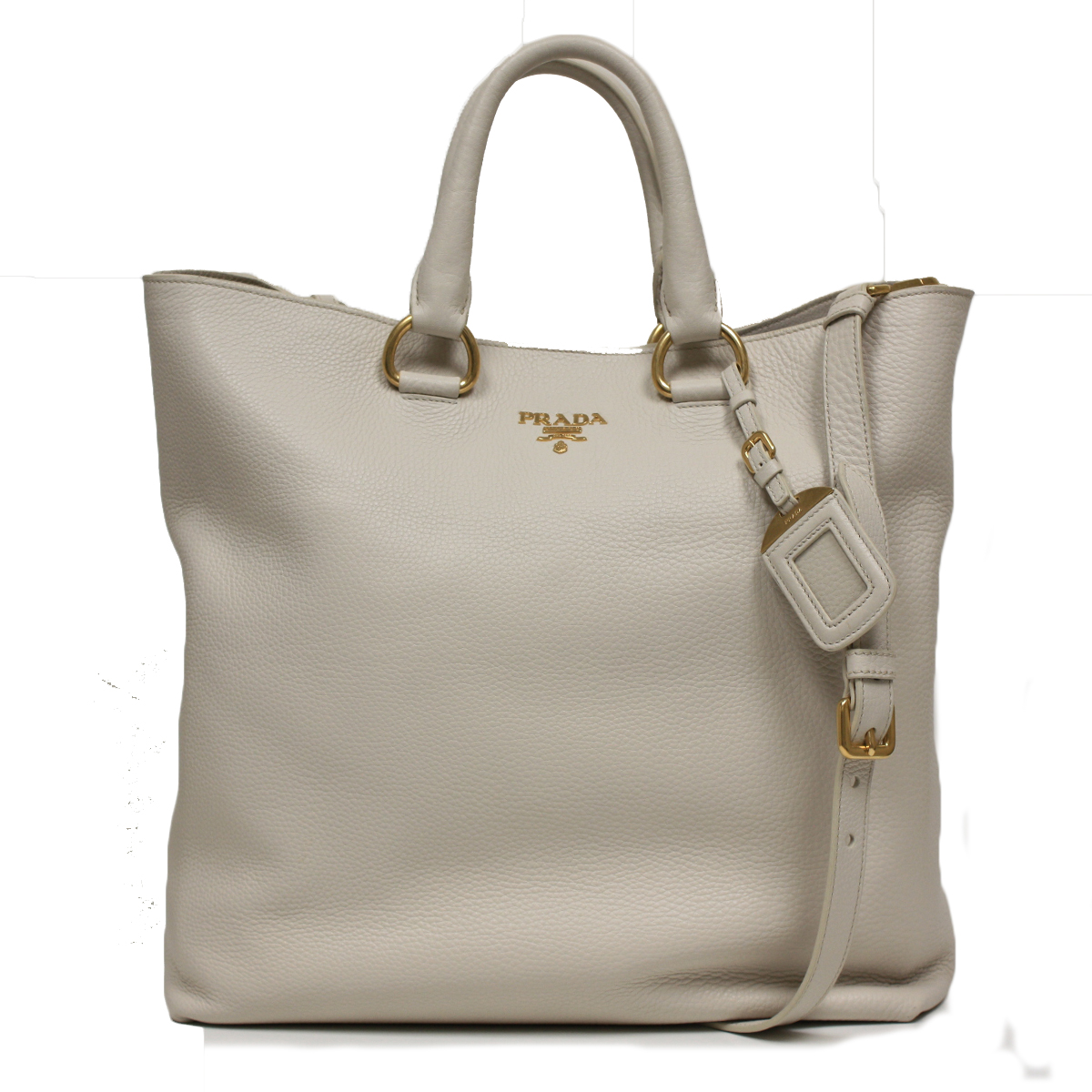prada grey leather shoulder shopping bag tote prada bag