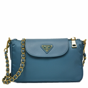 prada canada price - Prada Blue Tessuto Saffiano Leather Chain Handle Crossbody Bag ...