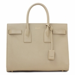 Saint Laurent Beige Calf Leather Classic Small Sac De Jour Satchel Bag 324823