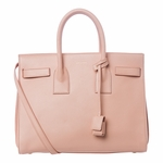 Saint Laurent Blush Pink Calf Leather Classic Small Sac De Jour Satchel Bag 324823