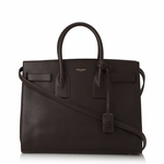 Saint Laurent Brown Calf Leather Classic Small Sac De Jour Satchel Handbag 324823