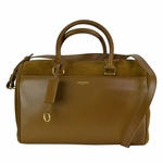 Saint Laurent 6 Hour Duffle Bag in Brown Calfskin Leather and Suede