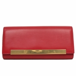 Saint Laurent Hot Pink Calf Leather Women's Clutch Bag 324826