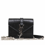 Saint Laurent YSL Candy Monogram Croc Embossed Leather Chain Shoulder Mini Bag 354490