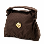 Gucci Brown Canvas Hysteria Satchel Handbag 286307