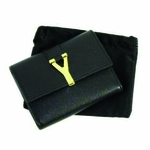 YSL Black Leather Address Book