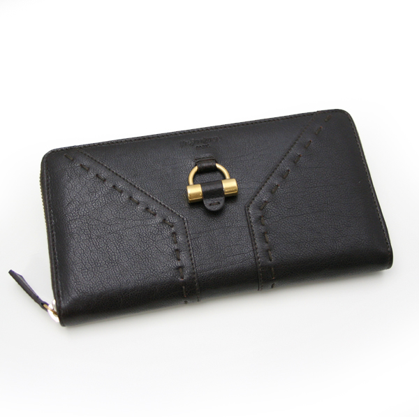 YSL Black Leather Muse Wallet