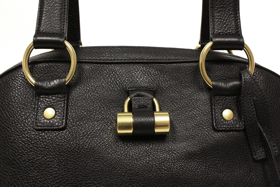 Yves Saint Laurent YSL Black Leather Large Muse Bag - Satchels ...