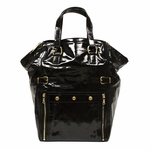 YSL Black Patent Leather Downtown Tote Bag 172452