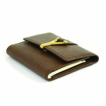 YSL Brown Leather Address Book 241318