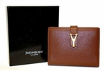 YSL Brown Leather Address Book