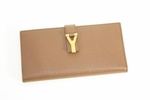 YSL Brown Leather Planner Agenda 241166