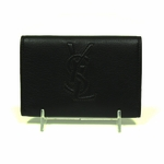 YSL Brown Logo Wallet 216074