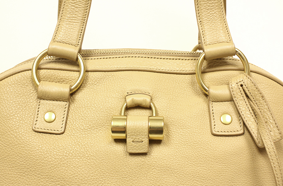 Yves Saint Laurent 311226 YSL Muse Nude Leather Large Satchel Bag ...