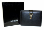 YSL Leather Black Address Book