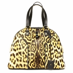 Yves Saint Laurent 156464 YSL Muse Leopard Print Satchel Bag Large