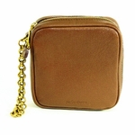 YSL Light Brown Belle du Jour Wristlet