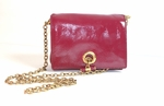 YSL Magenta Embossed Leather Sac 191880