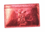YSL Metallic Red Card Case 256424