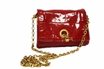 YSL Red Embossed Leather Sac 191880