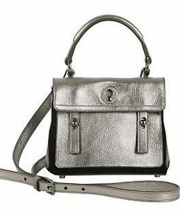 ysl silver leather handbag muse two