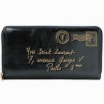 YSL Y-Mail Black Patent Leather Wallet