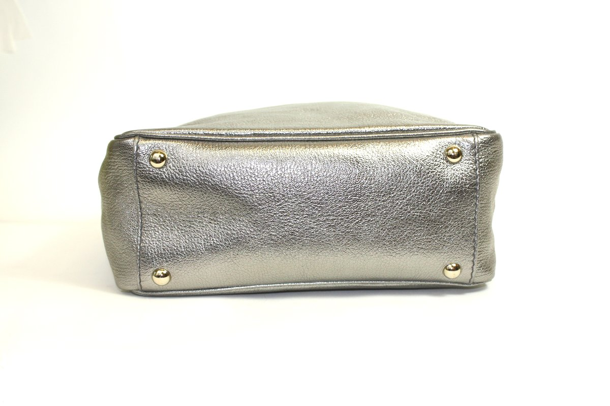handbag tag - YSL Y-Mail Tote Silver - Queen Bee of Beverly Hills - Archives