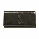 Yves Saint Laurent 314904 YSL Belle du Jour Black Patent Leather Wallet