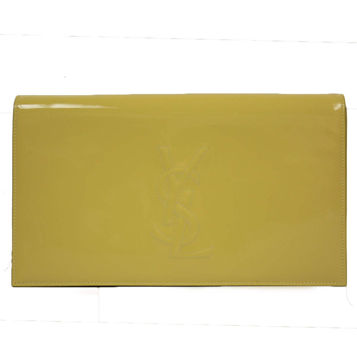 Saint Laurent YSL Belle du Jour Neon Patent Leather Clutch 361120 ...