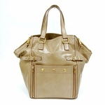 YSL Yves Saint Laurent Downtown Medium Ivory Patent