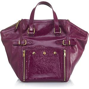 YSL Handbags - YSL Purple Downtown Tote - QueenBeeofBeverlyHills ...