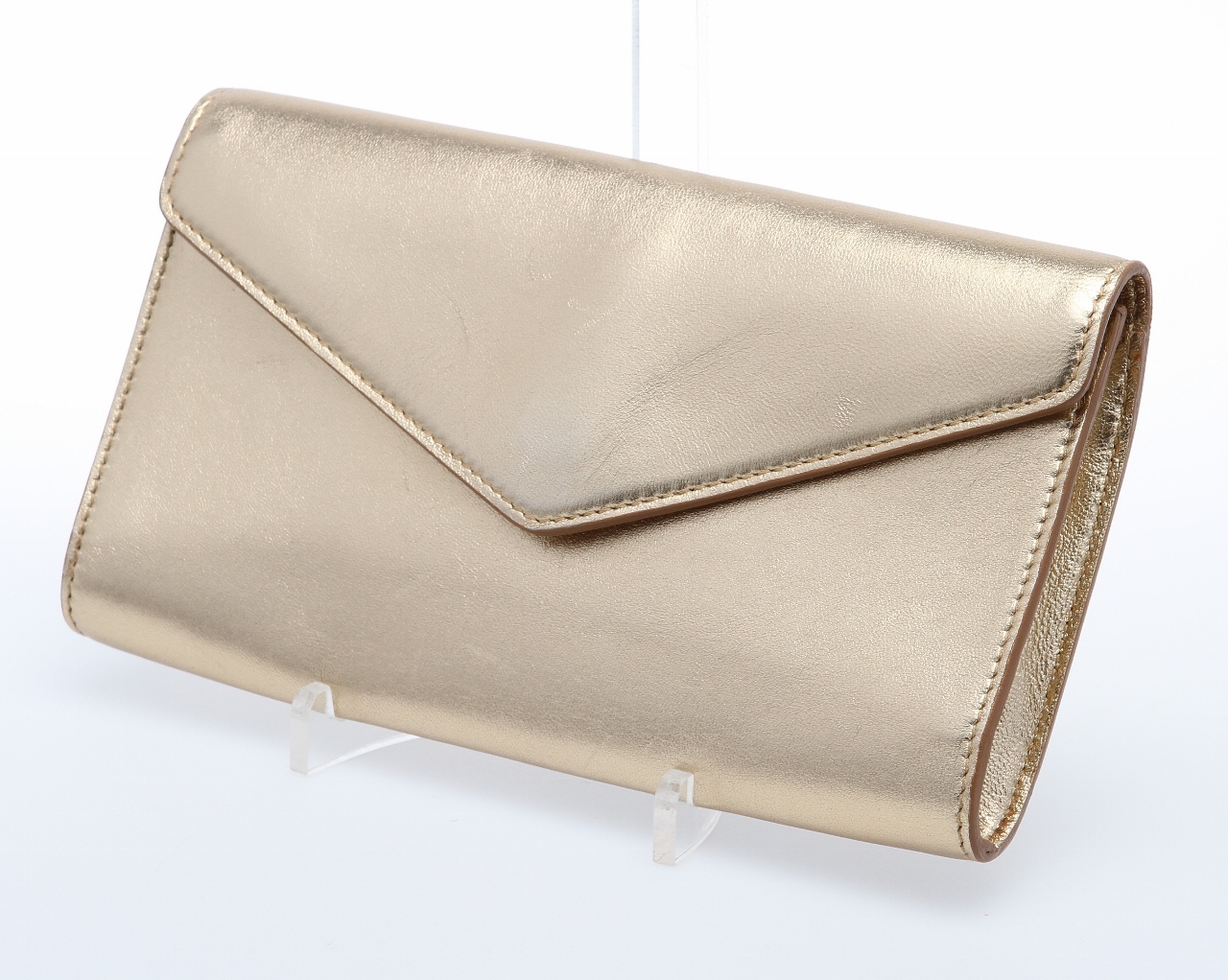 ysl bags online - YSL Y-Mail Clutch in Metallic Gold Leather - Queen Bee of Beverly ...