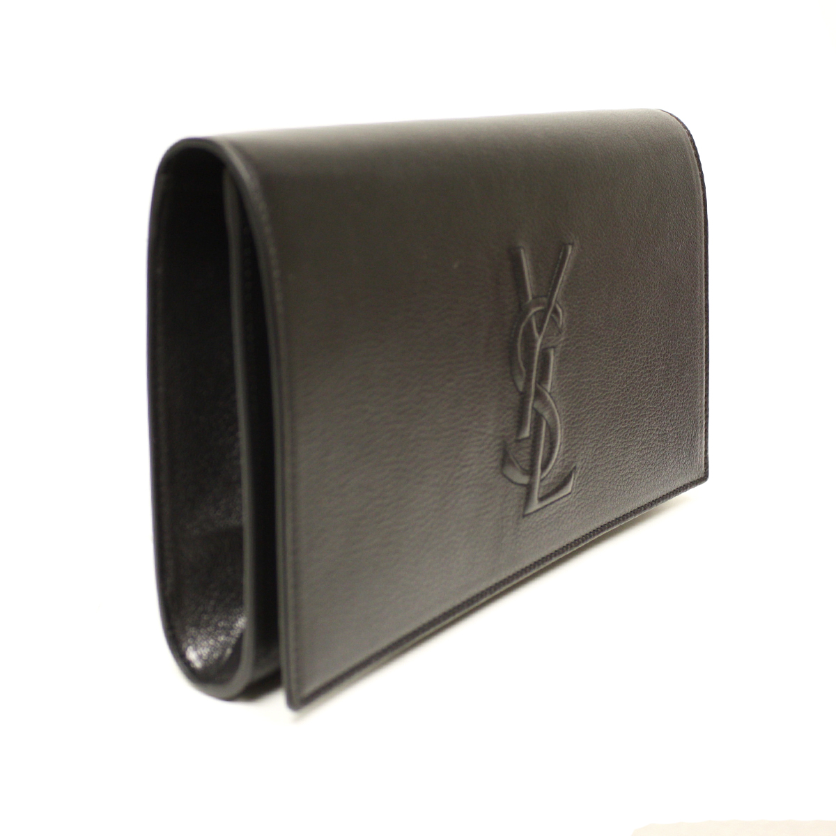 ysl cassandre clutch replica - YSL Belle de Jour Black Leather Large Clutch Bag 361120|Queen Bee ...