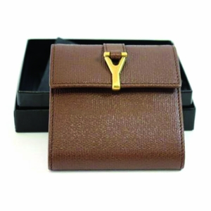 Yves Saint Laurent YSL Chyc Brown Leather Notebook Case