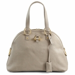 Yves Saint Laurent YSL Gray Leather Large Muse Bag