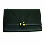 Yves Saint Laurent YSL Muse Wallet Clutch Black Leather 241318