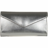 Yves Saint Laurent YSL Silver Y-Mail Clutch