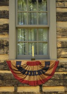 Heritage Series:  1 1/2'x3' Cotton Mini-Fan Flag  - Made in the U.S.A.