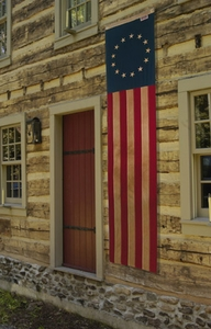 """Heritage Series:  20"""" x 8' Cotton 13-Star Pulldown  - Made in U.S.A."""