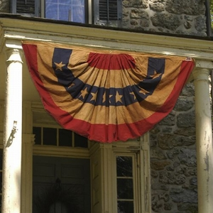 Heritage Series:  3'x6' Cotton Full Fan Flag - Made in the U.S.A.