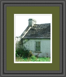 Irish Cottage - Framed Giclee Print on Canvas 11x14