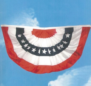 """NEW!!  6 ft WIDE Bright White Nylon Flag Bunting<br>Large 72""""w x 36""""d"""
