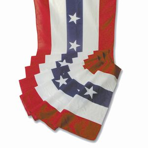 Patriotic Polycotton Striped Bunting With Stars - 60 yards