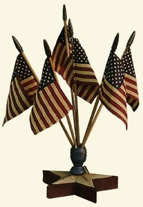Star Flag Finial with Flags