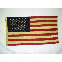 "Tea Stained American Flag - Large 32"" x 58"""