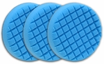 3 Pack Cobra Cross Groove™ 6.5 Inch Blue Final Finishing Pads