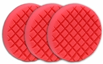 3 Pack Cobra Cross Groove� 6.5 Inch Red LSP Finishing Pads