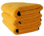 3 Pack Cobra Gold Plush XL Microfiber Towel, 25 x 36 inches